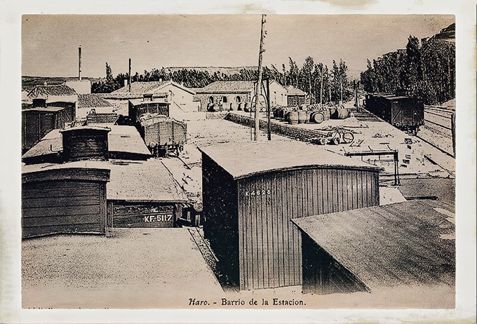 Aspecto del Barrio de la Estación en los primeros años del ferrocarril