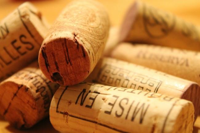 Función del corcho en un vino