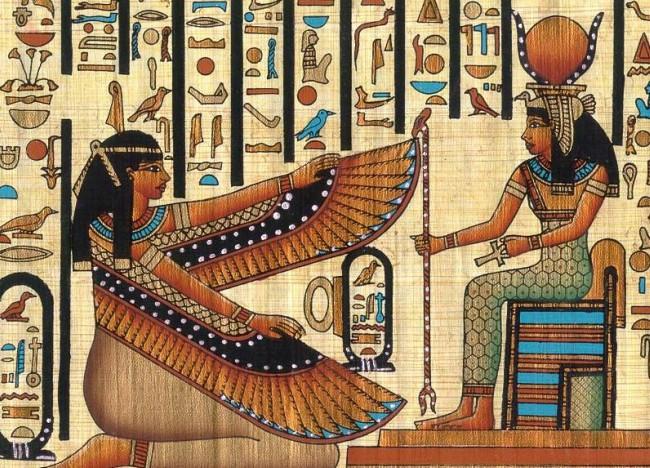 Hathor la diosa egipcia del vino