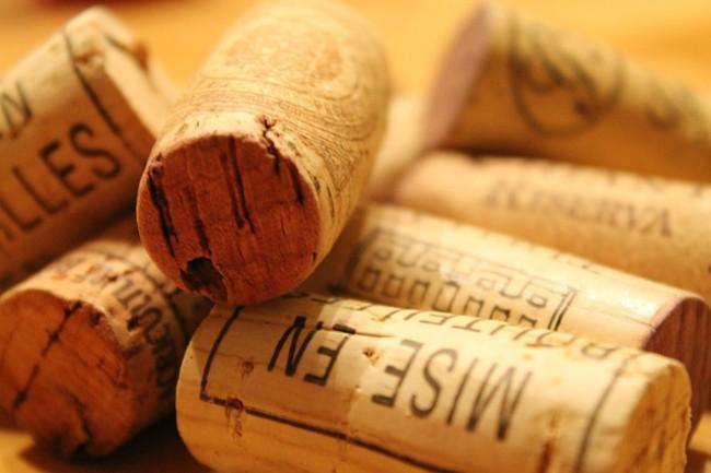 Corcho de botella de vino
