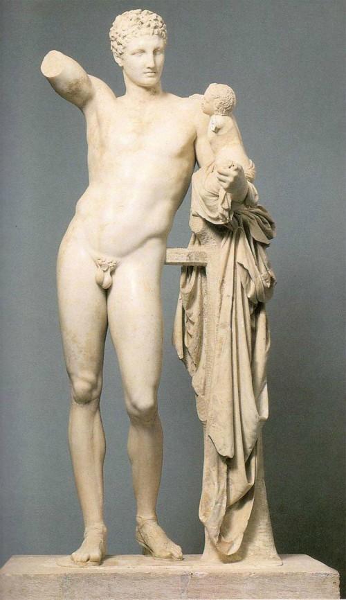 Hermes con el niño Dioniso