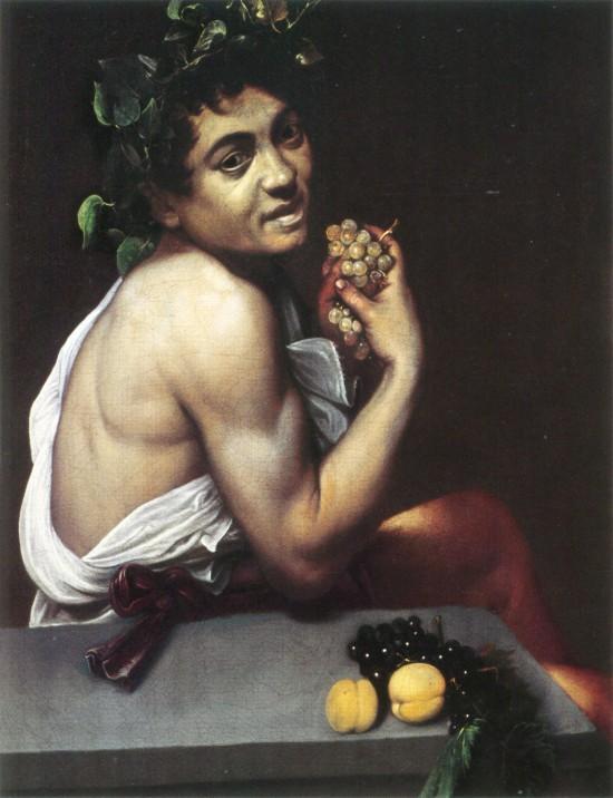 Baco enfermo de Caravaggio