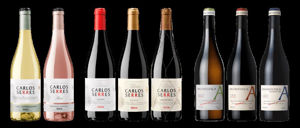 Serie completa de botellas Carlos Serres 2019