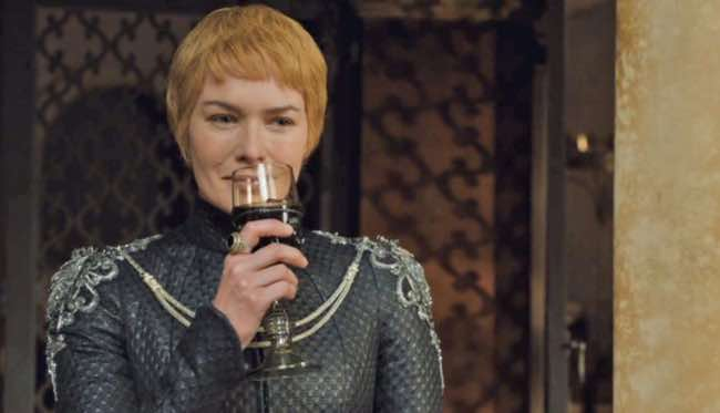 Cersei Lannister, amante del vino en Juego de Tronos