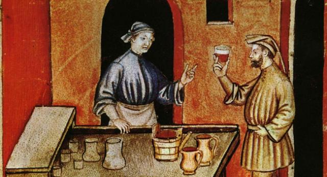 La venta del vino en la Edad Media