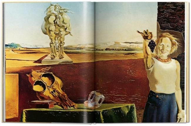 """Detalle del interior de """"Los vinos de Gala"""" de Dalí, editado por Taschen"""