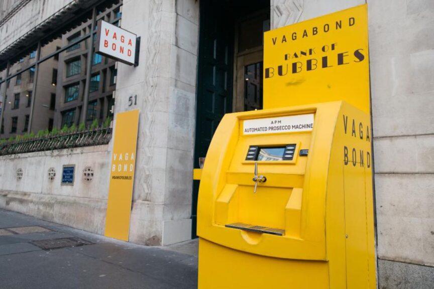 Instalan un cajero automático de vinos en Londres